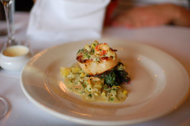 3rd Course: Pan-Seared Day Boat Scallop | Pan-Seared Day ...