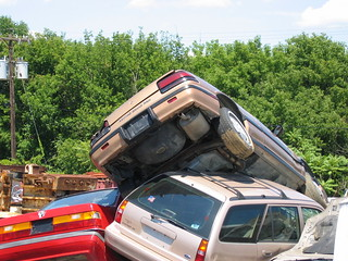 Wrecking Yard, 3 Cars, Close-Up | by Consumerist Dot Com