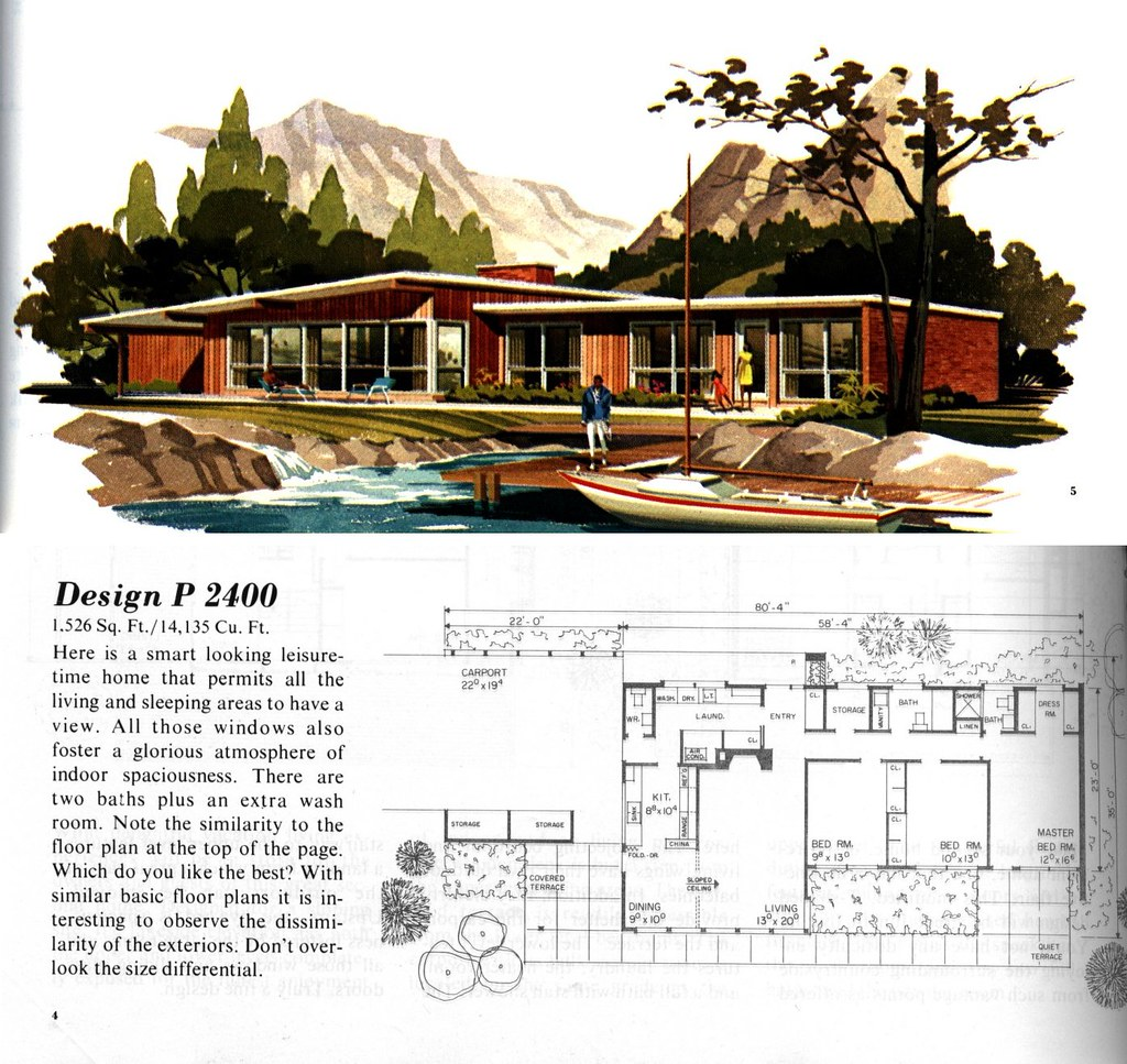 Mcm houseplans flickr photo sharing for Mid century modern home floor plans