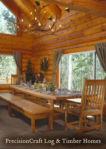 Dining Room View  Custom Log Home In Utah  Precisioncraf. Discount Luau Decorations. Room In A Bag. Luxury Living Room Furniture Sets. Home Theater Decorating Ideas. Small Scale Living Room Furniture. Children's Ministry Decor. Bat Mitzvah Decorations. Girls Room Accessories