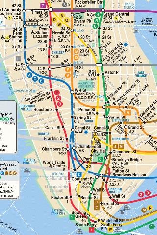 MAP SUBWAY NYC