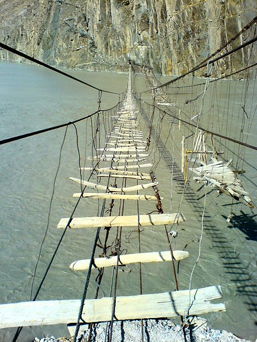 Passu - Hussaini Suspension Bridges | by spearhawk