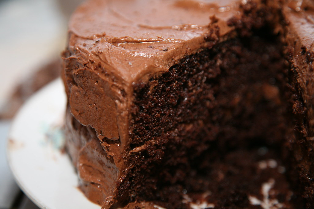 Chocolate Cake With Chocolate Curls