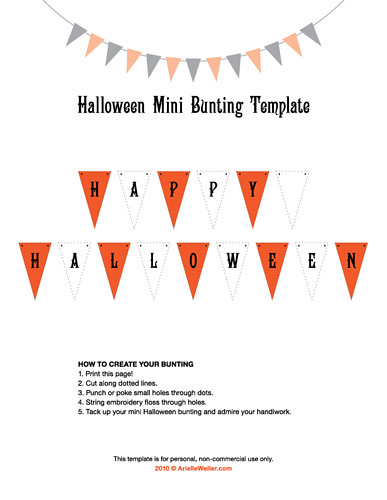 Halloween Mini Bunting Template Here S A Free