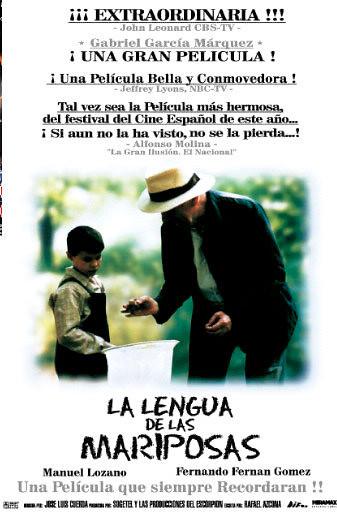 LA LENGUA DE LAS MARIPOSAS MOVIE POSTER : Gustavo ...