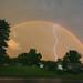 Double Rainbow with Lightning