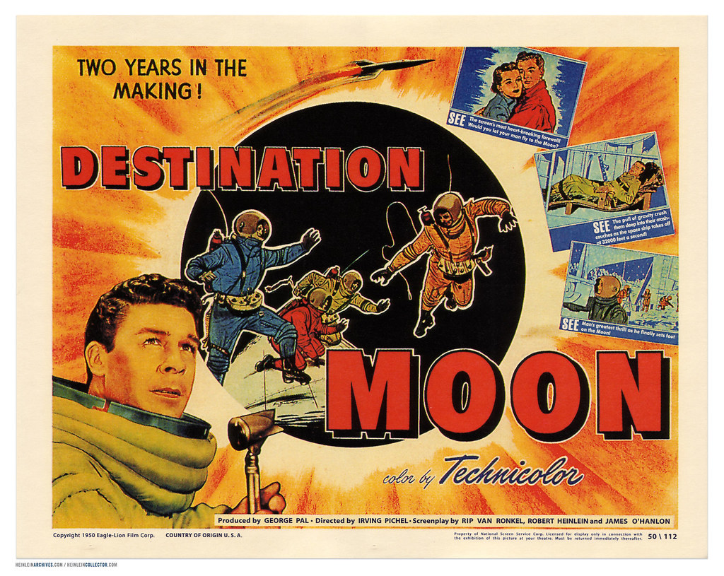 u0026quot;Destination Moonu0026quot; lobby card : This is a theater lobby ...