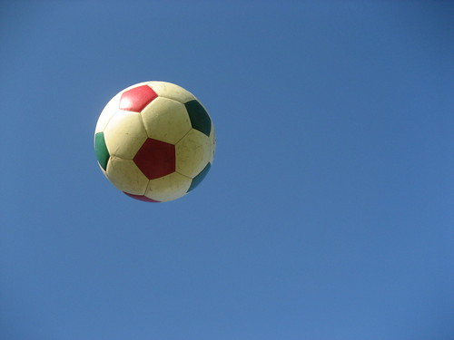 gucci soccer ball in flight | by RO/LU