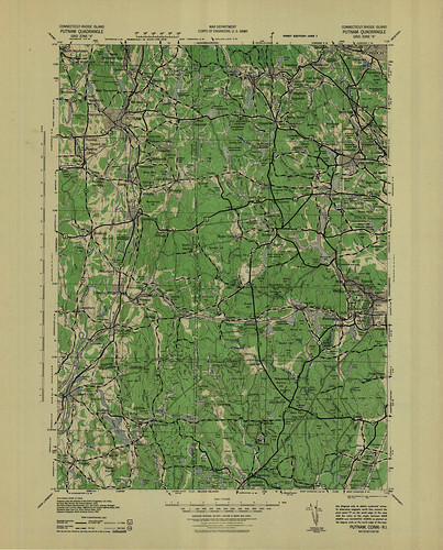 Putnam Quadrangle 1943 - USGS Topographic Map 1:125,000 | by uconnlibrariesmagic