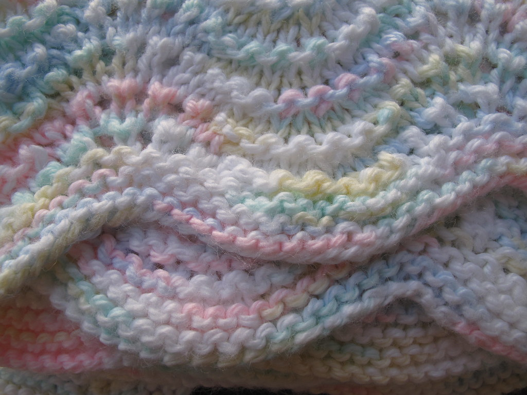 Lullaby Lass Hand-Knitted Ripple Baby Blanket / Afghan Flickr