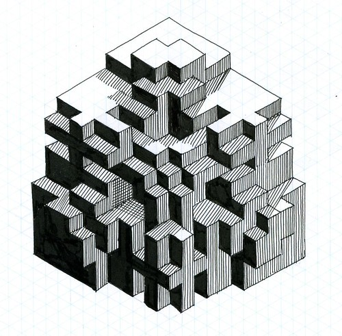 fun with isometric paper 02 | Paul Heaston | Flickr