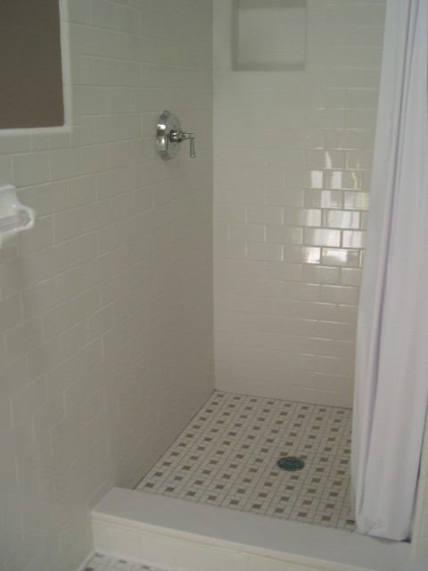 Subway Tile Shower White Subway Tile Shower Walls With