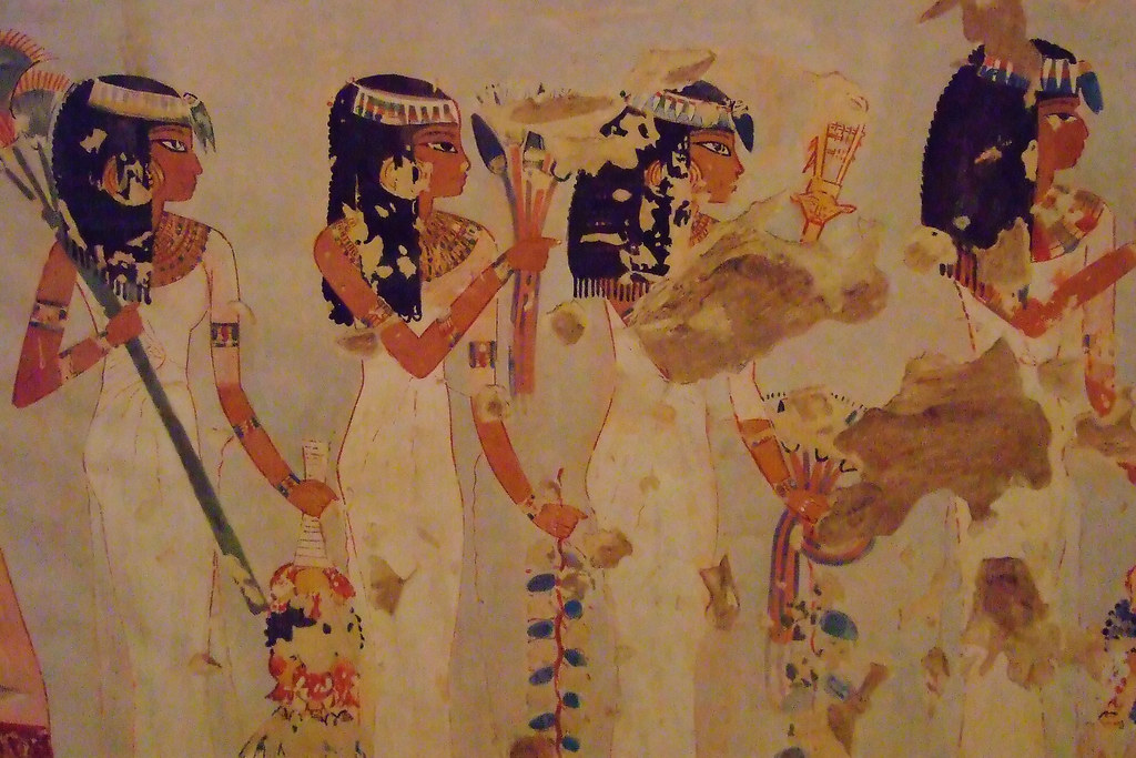 Ancient egyptian murals at the metropolitan museum of art for Egypt mural painting