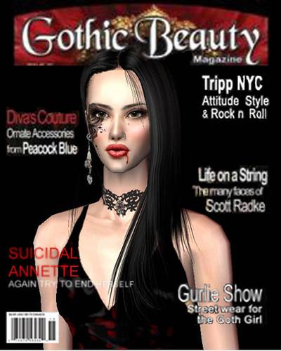 Gothic Beauty Magazine: Gothic Beauty Magazine Cover