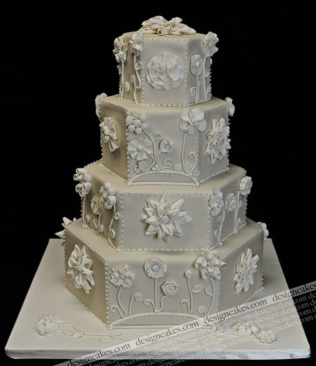 hexagon wedding cakes hexagon wedding cake flickr photo 15216