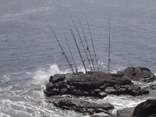 Ulua fishing at south point south point big island for Big island fishing