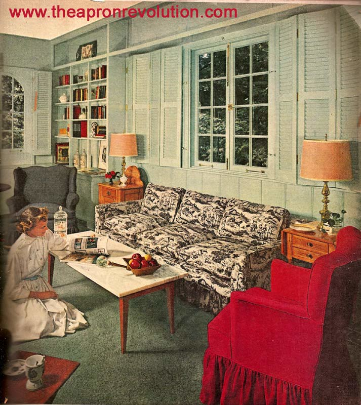 Early american living room this image is from a mid 1950 - 1950 s living room decorating ideas ...