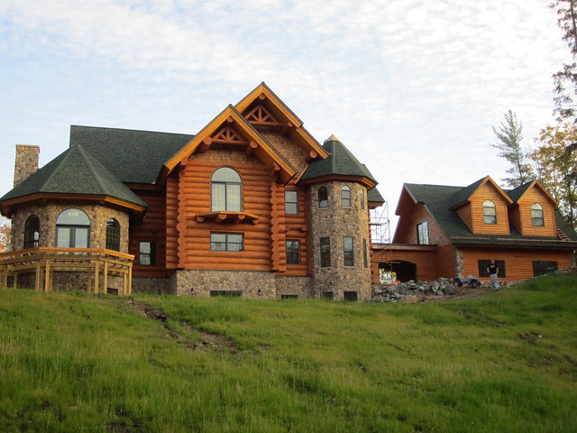 This Log Home Is Made From Engellman Spruce Frontier Log