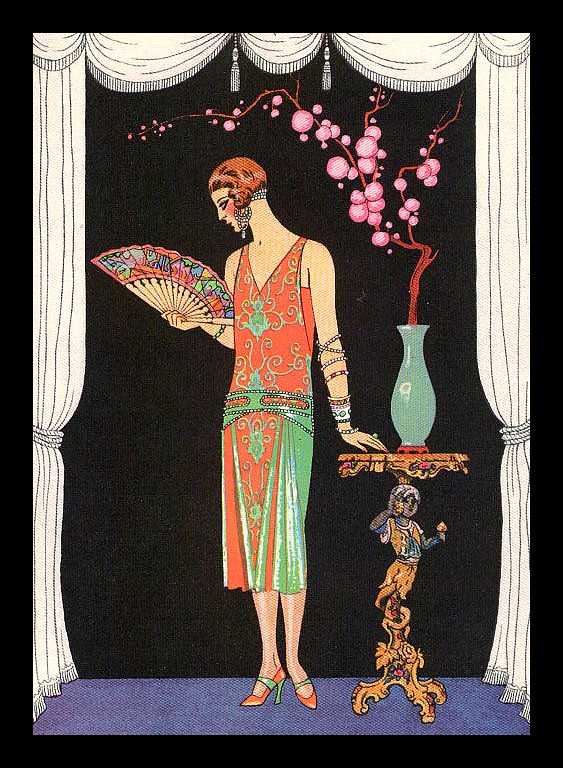 George Barbier La Belle Personne Robe de soir de Worth