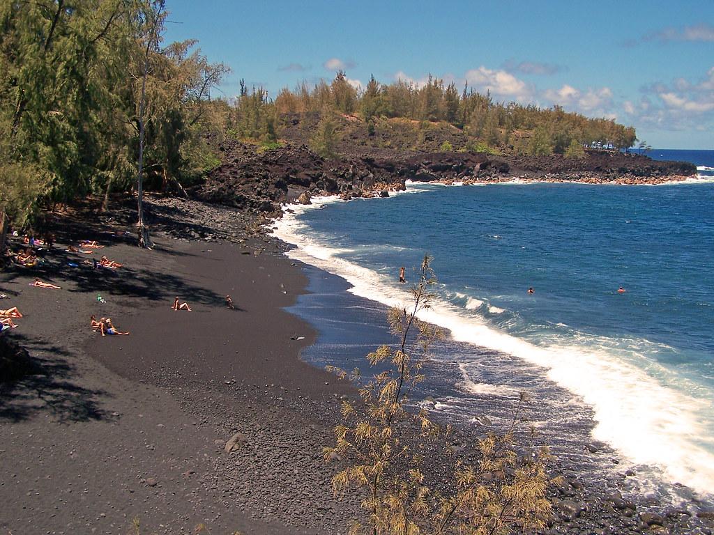 Kehena Black Sand Beach Big Island