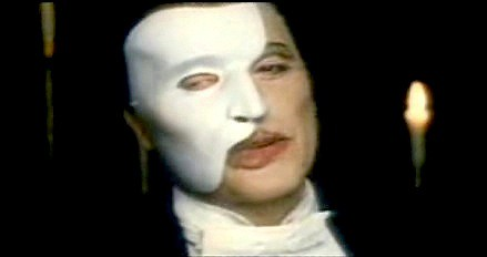 michael crawford as the phantom of the opera christine