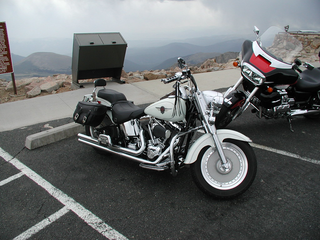 harley fat boy buddy 39 s fat boy this one died when buddy w flickr. Black Bedroom Furniture Sets. Home Design Ideas