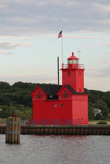 Big red big red lighthouse in holland michigan by for Tiny house holland michigan