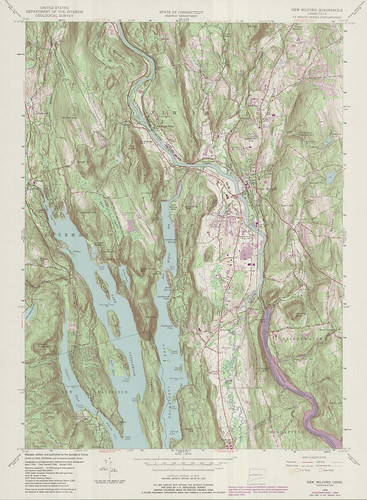 New Milford Quadrangle 1984 - USGS Topographic Map 1:24,000 | by uconnlibrariesmagic