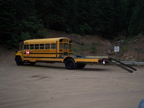 Towed Car Finder >> Too Kewl For Skool? Modified School Bus / Jeep Hauler | Flickr - Photo Sharing!
