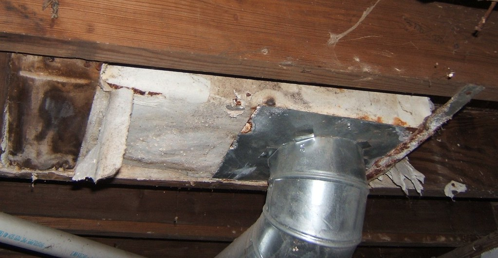 Asbestos Paper Duct Insulation In House Another Example