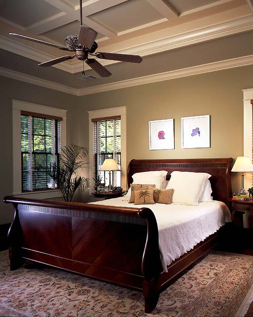 Ansley Master Suite Ten Foot Coffered Ceilings And A Vinta Flickr