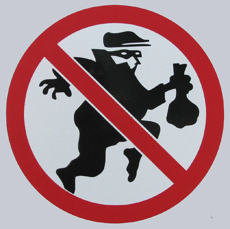 Stop Thieves Sign
