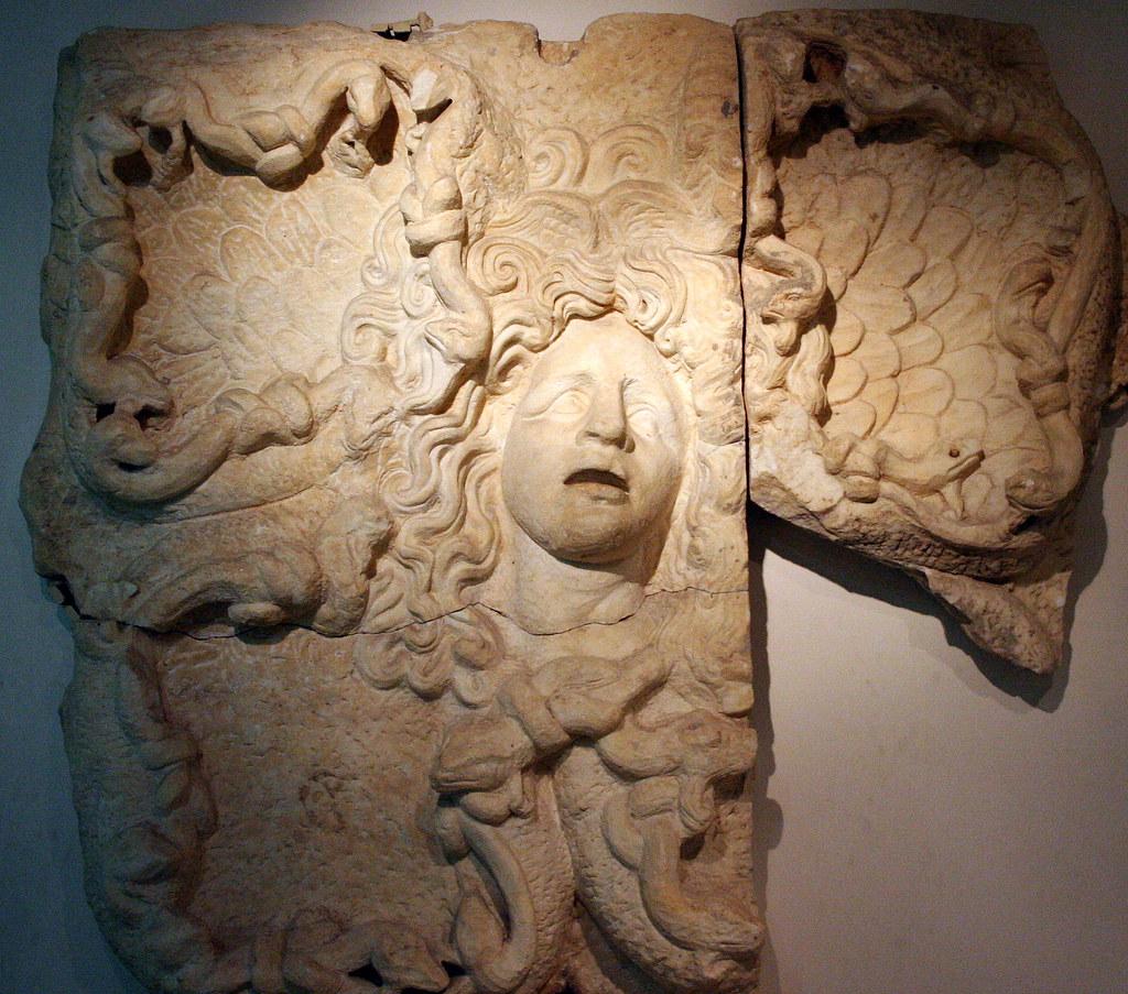 Roman medusa jamahiriya museum libya stone