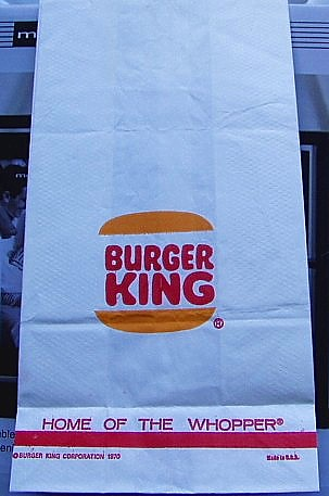 Fast Food Bags That Are White And Red