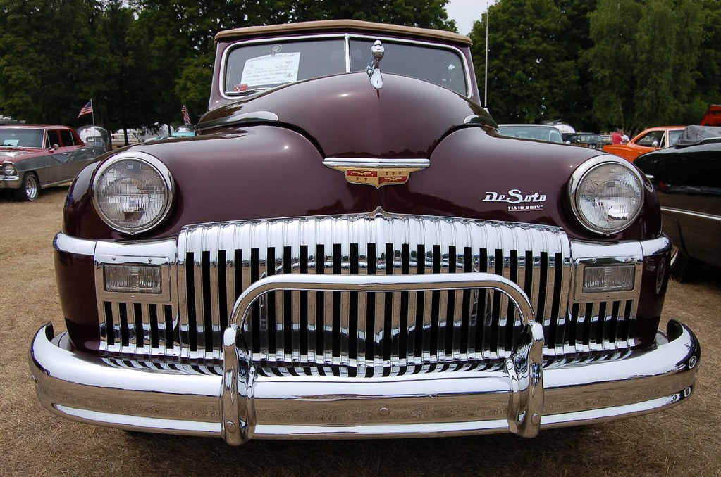 1947 Desoto Custom Convertible Grill Taken During The