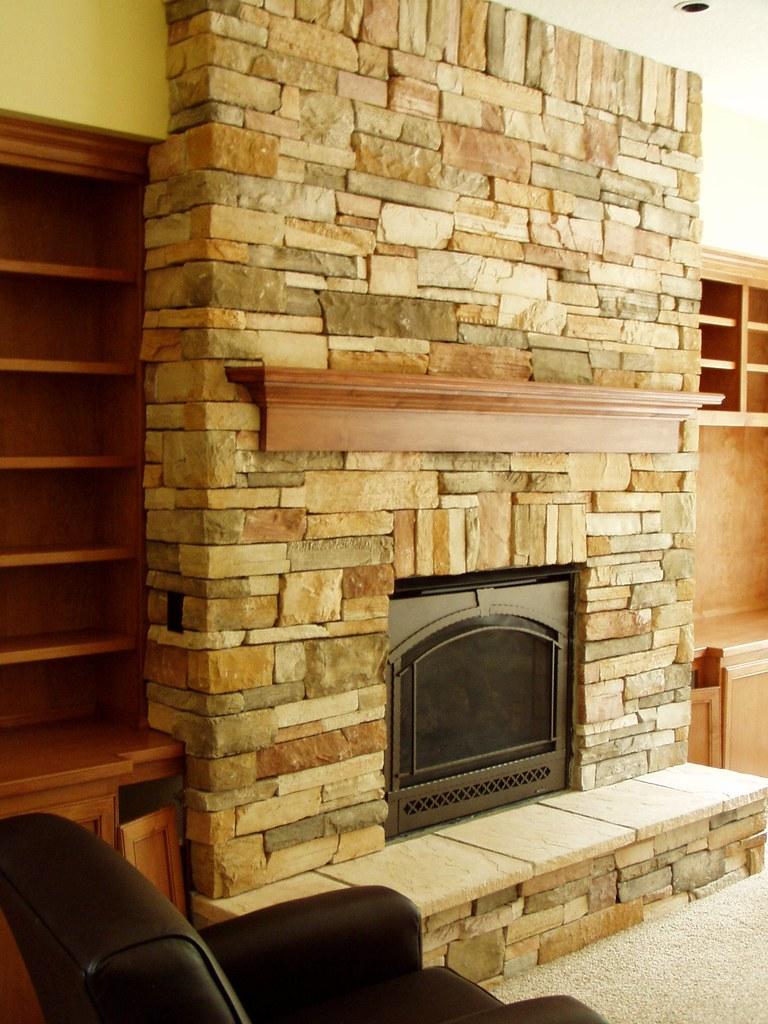 Stone Veneer Fireplace Face Baker Masonry Llc 503 539 679