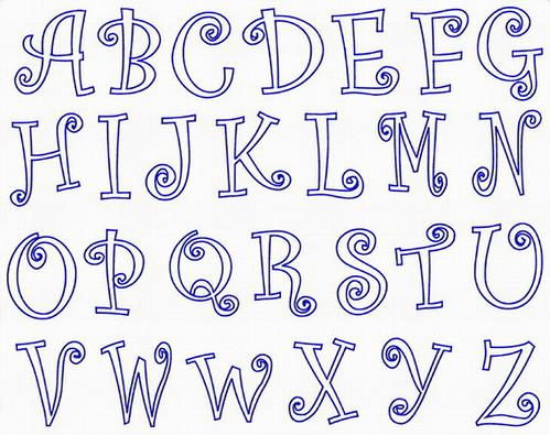 beautiful letters! Graffiti Letters AZ Fancy Calligraphy
