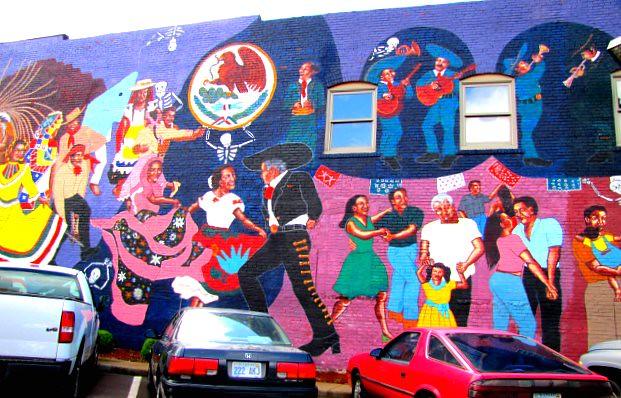 Dia de los muertos mural mcdonalds this mcdonalds in for Dia de los muertos mural