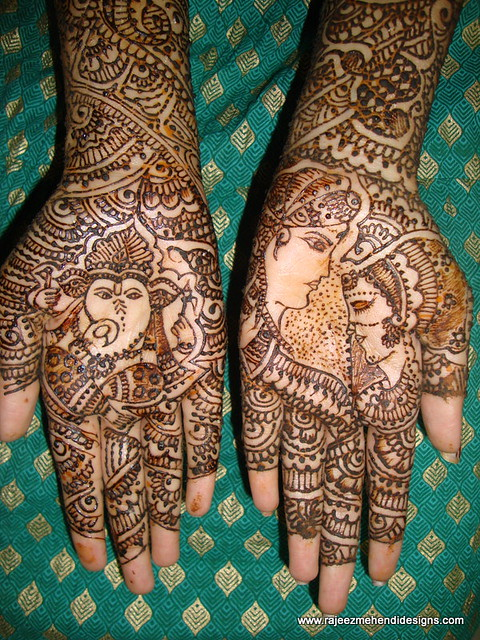 Dulha Dulhan Front Hands  Explore Rajeswari Mehendi