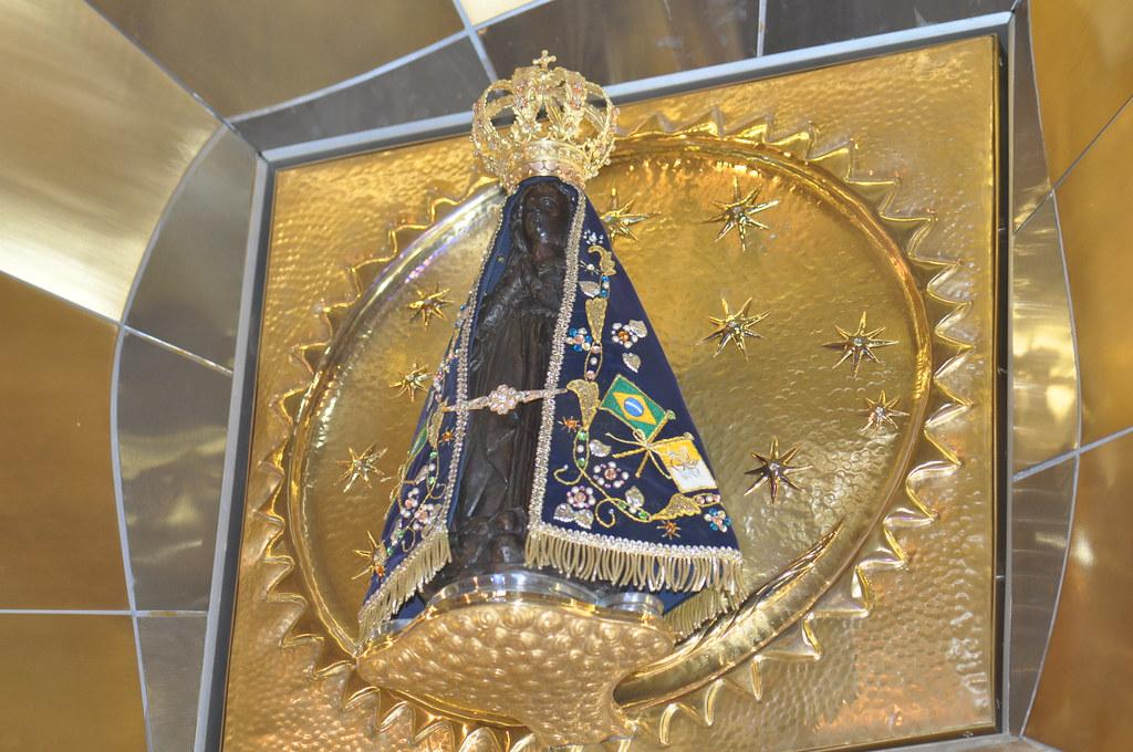 Imagem Original De Nossa Senhora Aparecida: Foto Da Imagem Original No Santuário De Nossa Senhora Apar