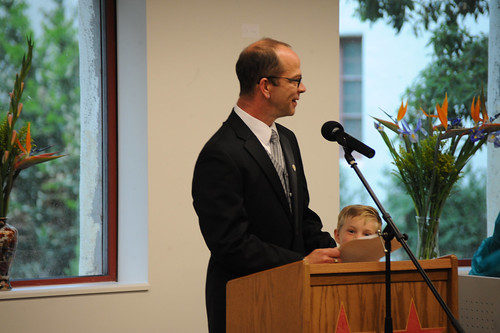 Head of Collections and Technical Services, Steve Stratton speaking at 2009 Celebration of Faculty Accomplishments | by California State University Channel Islands