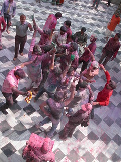holi festival Vrindavan | by Woodlouse