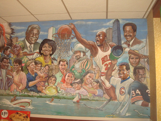 Chicago mural in mcdonalds wabash adams flickr for Chicago mural group