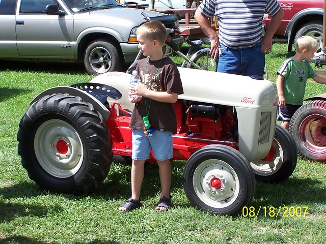 Mini Antique Tractors : Miniature ford a scale model of tractor photo by