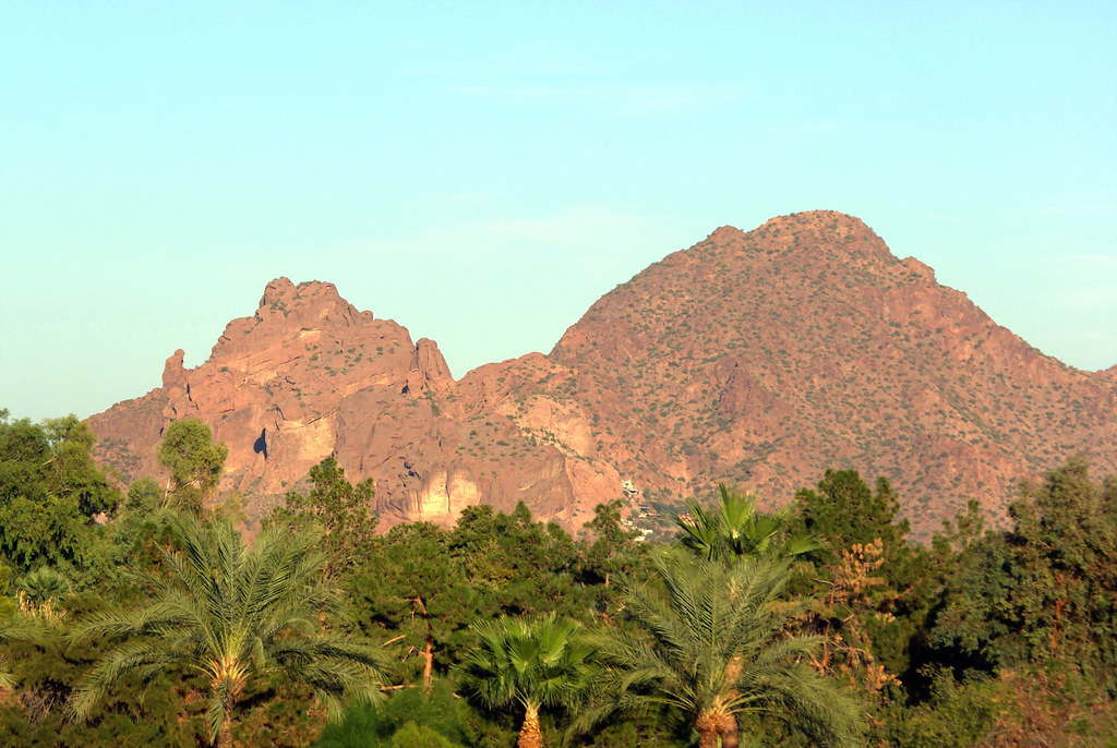 Sunset Camelback Mountain Camelback Mountain View From