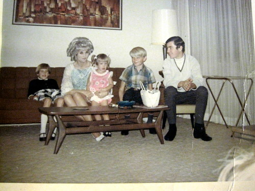 old family photo of me with my mother, sisters and my brother