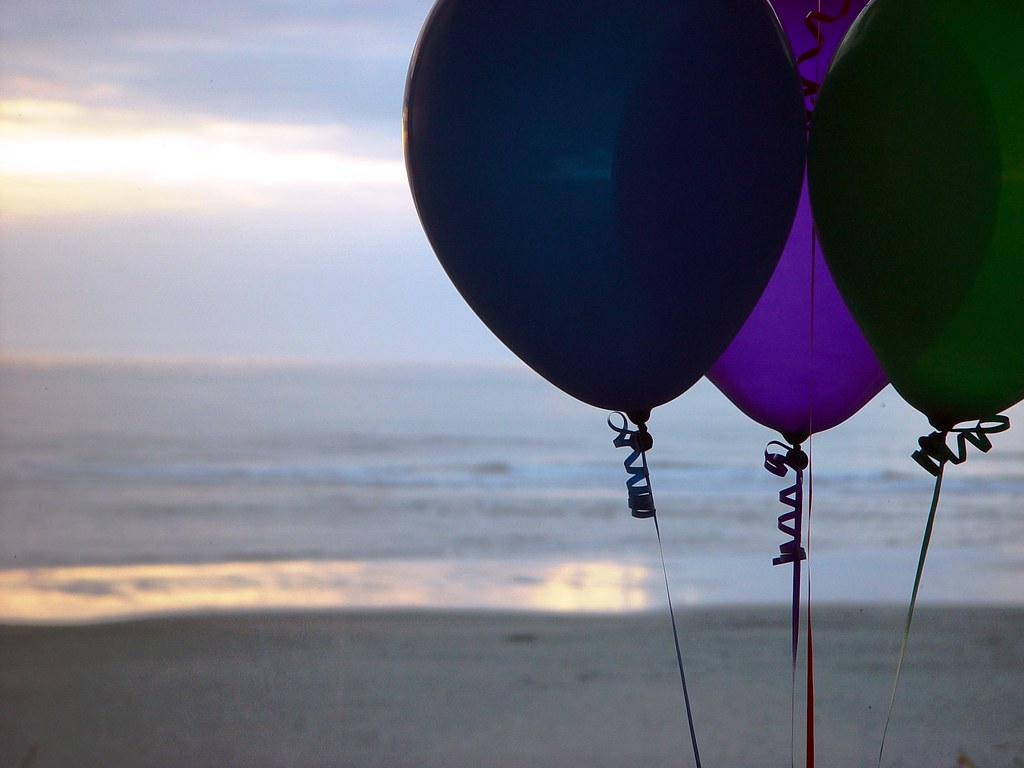Happy Birthday Balloons And Cake Ecards