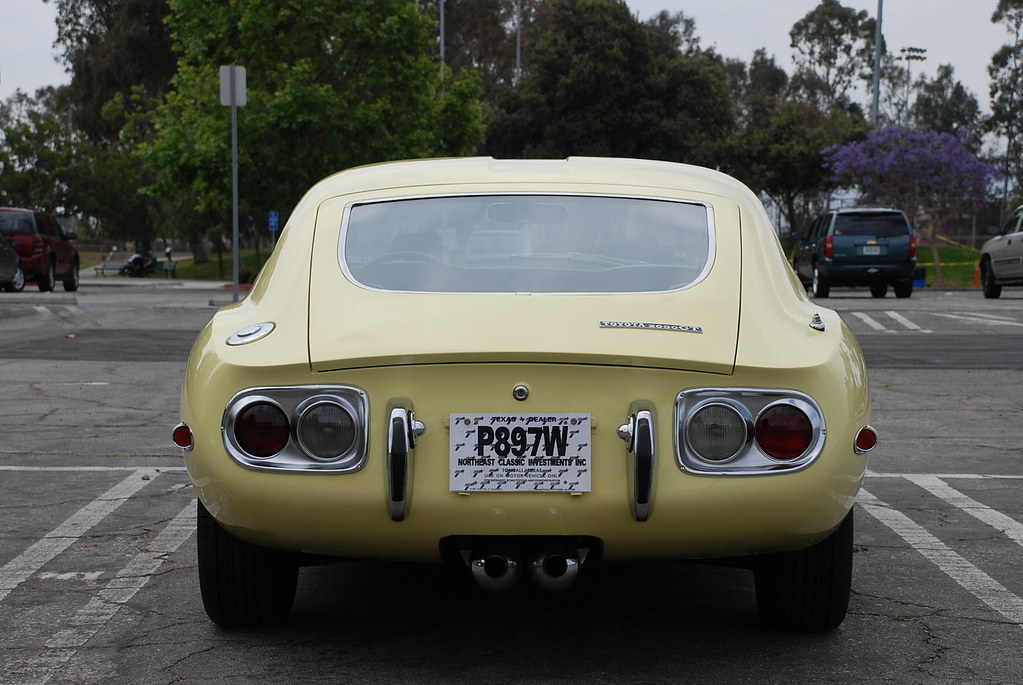 1967 toyota 2000gt yellow for sale rear bring a trailer flickr. Black Bedroom Furniture Sets. Home Design Ideas