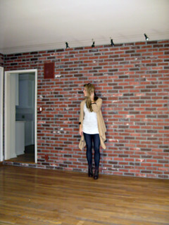 brick wall - game room - before we moved in | by ...love Maegan