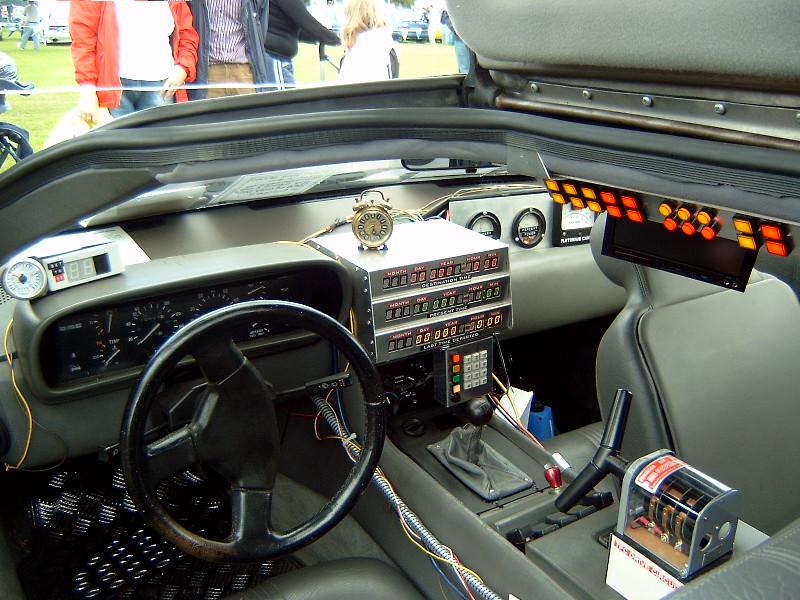 Delorean Dmc-12 Interior Back To The Future Fotografia-6014